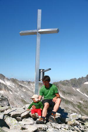Rosskopf, 2845m -  erster Gipfel unseres Sohnes
